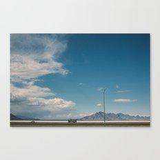 Bonneville Salt Flats Utah USA Canvas Print