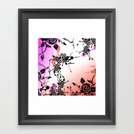 Punkoco Floral Fuchsia  Framed Art Print