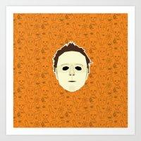 michael myers Art Prints featuring Michael Myers by Kuki