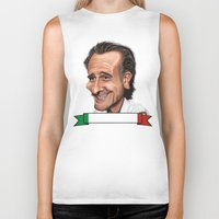 world cup Biker Tanks featuring  Cesare Prandelli World Cup by Michael Paci