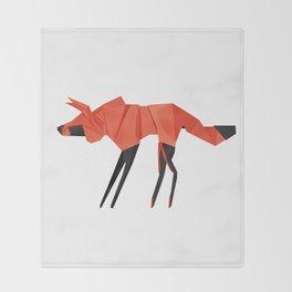 Origami Hyena Throw Blanket