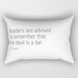 The Devil is a Liar #minimalism #quotes Rectangular Pillow