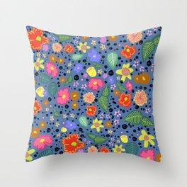 blue arboretum Throw Pillow