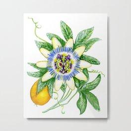 Luscious Passion Flower Metal Print