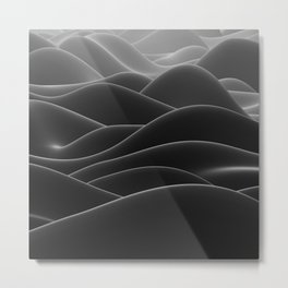 Dark sea of wax Metal Print