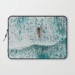 Girl Surfing Laptop Sleeve