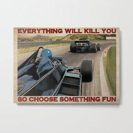 Love Car Love Car Formula One Choose Something Fun Metal Print