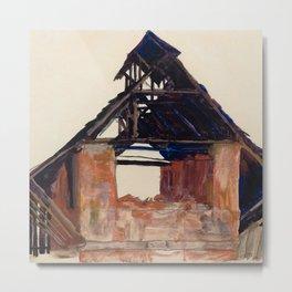 "Egon Schiele ""Old Gable"" Metal Print"