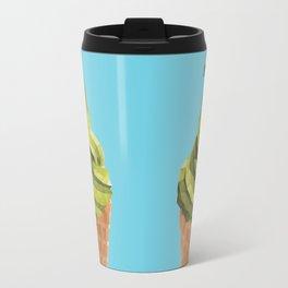 Matcha Soft Serve Icecream Polygon Art Travel Mug
