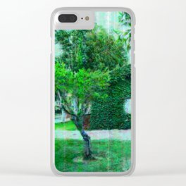 Green Heaven by Lika Ramati Clear iPhone Case