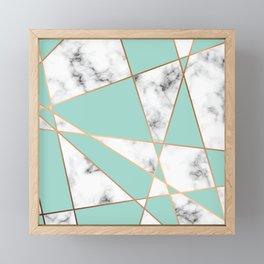 Marble Geometry 055 Framed Mini Art Print