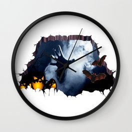 The hand of hell Wall Clock