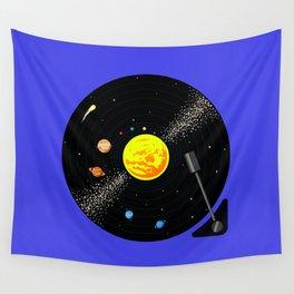 Solar System Vinyl Record Wall Tapestry