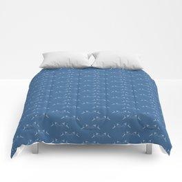 Blue Fish Pattern Comforters