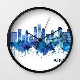 Kinshasa DR Congo Skyline Blue Wall Clock