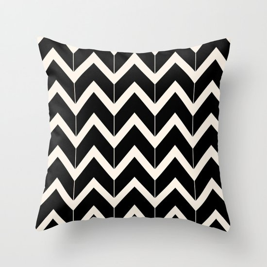 Black & Ivory Throw Pillow