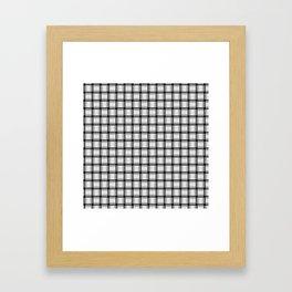 Small Pale Gray Weave Framed Art Print