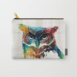 Colorful Owl Art - Wise Guy - By Sharon Cummings Carry-All Pouch