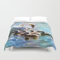 aelwen Duvet Covers featuring CYG-NIFICANT by Catspaws