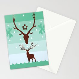THE STAG & THE REFLECTION Stationery Cards