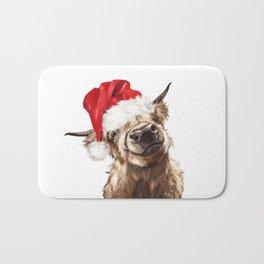 Christmas Highland Cow Bath Mat
