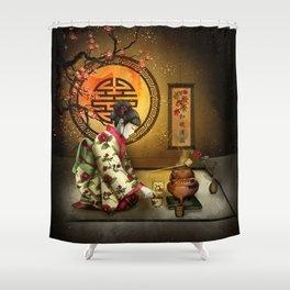 Camellia Tea Shower Curtain