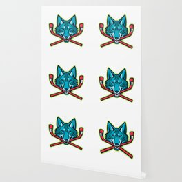 Coyote Ice Hockey Sports Mascot Wallpaper
