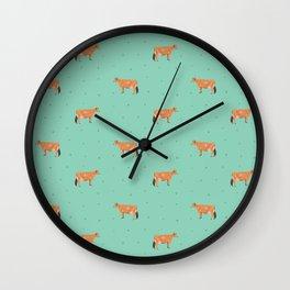 Jerseys // Green & Teal Wall Clock