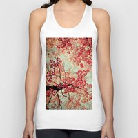 bed Tank Tops featuring Autumn Inkblot by Olivia Joy StClaire