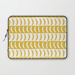 Wavy Stripes Mustard Yellow 2 Laptop Sleeve