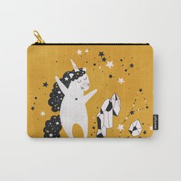 Stellar Unicorn with Crystal Carry-All Pouch