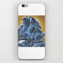 A Cane Corso dog portrait from an original painting by L.A.Shepard iPhone Skin