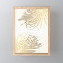Palm leaf synchronicity - gold Framed Mini Art Print