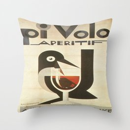 Vintage poster - Pivolo Aperitif Throw Pillow
