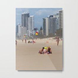 Sandcastles Metal Print