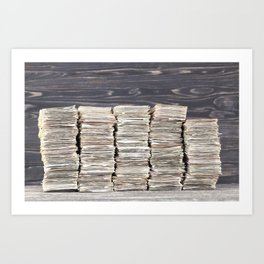bundle of cash Art Print