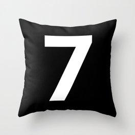 Number 7 (White & Black) Throw Pillow