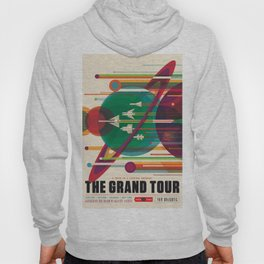 NASA Retro Space Travel Poster The Grand Tour Hoody