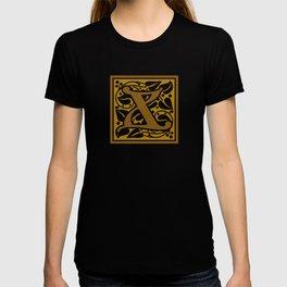 Ornate Initials Three - X T-shirt
