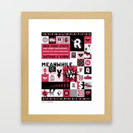 Thunder Pants Specimen Poster Framed Art Print