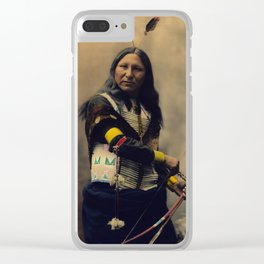 Shout At, Oglala Sioux, by Heyn Photo, 1899 Clear iPhone Case
