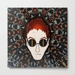 Anthony Crowley Good Omens Geometric Mandala Metal Print
