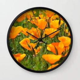 California Poppies Super Bloom Wall Clock