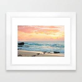 Honolulu Sunrise Framed Art Print