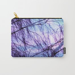 Black Trees Periwinkle Lavender Sky Carry-All Pouch