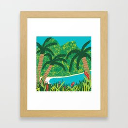 Tropical Island Getaway Framed Art Print