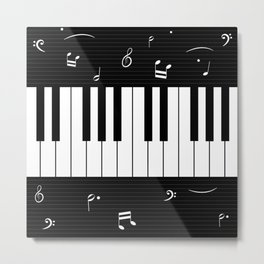 Piano Background - 06 Metal Print