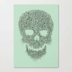 Green Skull Canvas Print