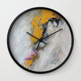 Washing the Yellow Away Wall Clock