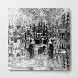 Summer space, smelting selves, simmer shimmers. 26, grayscale version Metal Print